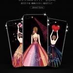 (025-859)เคสมือถือไอโฟน Case iPhone 7 Plus/8 Plus เคสนิ่มซิลิโคนลายการ์ตูนผู้หญิง ขอบเพชรหรูหรา