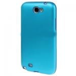 เคส โลหะ + Silicon Galaxy Note2 (Baby Blue)