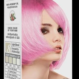 PASTEL Carebeau T02 สีชมพูพาสเทล + ฟรีตัวเร่งเม็ดสีชมพู