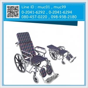 รถเข็นผู้ป่วย นอน FS901H เหล็กชุบโครเมี่ยม พับได้ (ส่งฟรี)