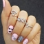 3in1 Silver Olive Leaf Set Knuckle Ring แหวนชุด3วง แหวนข้อนิ้วสีเงินรูปช่อใบไม้ ช่อใบมะกอก สวยมากๆ thumbnail 4