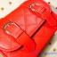 กระเป๋าสะพายข้าง สีแดงสด เย็บเดินลายทั้งใบ ทรงกล่องสีเหลี่ยม thumbnail 3