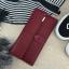 Classic Day Clutch Wine Red Wallet กระเป๋าสตางค์ทรงยาวสีแดงไวน์ แบบเรียบหรู thumbnail 5