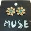 Muse Crystal Flower Brand Earing ต่างหูรูปดอกไม้แต่งคริสตัล แบรนด์ยุโรป thumbnail 1