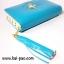 กระเป๋าสตางค์ใบกลาง ลายผู้หญิง สีฟ้าน้ำทะเล thumbnail 7