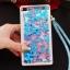 (549-001)เคสมือถือ Case Huawei P8 Lite เคสพลาสติกใส Glitter ทรายดูดหัวใจ thumbnail 5