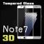 (443-006)ฟิล์มกระจกนิรภัย Note7 แบบเต็มหน้าจอ กันรอยขูดขีดกันน้ำกันรอยนิ้วมือ 3D 9H HD 2.5D thumbnail 1