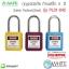 กุญแจนิรภัย ก้านเหล็ก 4 สี รุ่น PL01-04C Safety Padlock(Steel) thumbnail 1