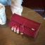 Classic Day Clutch Wine Red Wallet กระเป๋าสตางค์ทรงยาวสีแดงไวน์ แบบเรียบหรู thumbnail 3