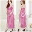 2in1 Sexy Dress ชุดนอนเซ็กซี่ซีทรูสีม่วงกระโปรงยาวผ่าข้างสูง+จีสตริง 8297 thumbnail 1