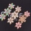 Sweet Pink Flower Bracelet สร้อยข้อมือออกงานรูปดอกไม้แต่งหินสีชมพูหวาน thumbnail 6