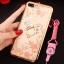 (025-643)เคสมือถือไอโฟน Case iPhone7 Plus/iPhone8 Plus เคสนิ่มลายประดับคริสตัลลายดอกไม้พร้อมแหวนเพชรมือถือและสายคล้องคอถอดแยกได้ thumbnail 5