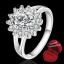 ฟรีกล่องแหวน R880 แหวนเพชรCZ ตัวเรือนเคลือบเงิน 925 หัวแหวนรูปดอกไม้แต่งเพชร ขนาดแหวนเบอร์ 7 thumbnail 1
