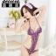 Sexy Bodysuit ชุดนอนบอดี้สูทสีม่วงทอลายดอกไม้แสนสวยสไตล์เจ้าหญิง E04483 thumbnail 1