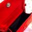 กระเป๋าสะพายข้าง สีแดงสด เย็บเดินลายทั้งใบ ทรงกล่องสีเหลี่ยม thumbnail 5