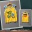 เสื้อกล้ามใส่หน้าร้อน สีเหลืองสดใส ลายน้องเต่า What's Up น่ารักดีค่ะ size 13 thumbnail 1
