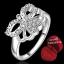 ฟรีกล่องแหวน R882 แแหวนเพชรCZ ตัวเรือนเคลือบเงิน 925 หัวแหวนรูปนางฟ้า ขนาดแหวนเบอร์ 8 thumbnail 1