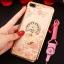 (025-643)เคสมือถือไอโฟน Case iPhone7 Plus/iPhone8 Plus เคสนิ่มลายประดับคริสตัลลายดอกไม้พร้อมแหวนเพชรมือถือและสายคล้องคอถอดแยกได้ thumbnail 6