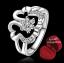 ฟรีกล่องแหวน R881 แหวนเพชรCZ ตัวเรือนเคลือบเงิน 925 หัวแหวนรูปดอกไม้แต่งเพชร ขนาดแหวนเบอร์ 8 thumbnail 1