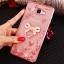 (025-600)เคสมือถือซัมซุง Case Samsung A9 Pro เคสนิ่มขอบแววพื้นหลังลายดอกไม้คริสตัลแหวนโลหะตั้งโทรศัพท์น่ารักๆ thumbnail 11