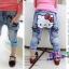 กางเกงยีนส์ขายาว ก้นสกรีนหน้าคิตตี้ กระเป๋าต่อผ้าลายสก๊อต น่ารักมากๆค่ะ size 5, 7, 9, 11, 13 thumbnail 2