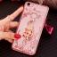(025-837)เคสมือถือ Case OPPO A79 เคสนิ่มซิลิโคนใสลายดอกไม้หรูติดคริสตัล พร้อมแหวนเพชรวางโทรศัพท์ thumbnail 3