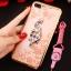 (025-643)เคสมือถือไอโฟน Case iPhone7 Plus/iPhone8 Plus เคสนิ่มลายประดับคริสตัลลายดอกไม้พร้อมแหวนเพชรมือถือและสายคล้องคอถอดแยกได้ thumbnail 7