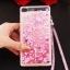 (549-001)เคสมือถือ Case Huawei P8 Lite เคสพลาสติกใส Glitter ทรายดูดหัวใจ thumbnail 4