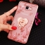 (025-600)เคสมือถือซัมซุง Case Samsung A9 Pro เคสนิ่มขอบแววพื้นหลังลายดอกไม้คริสตัลแหวนโลหะตั้งโทรศัพท์น่ารักๆ thumbnail 12