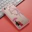 (025-200)เคสมือถือ Case OPPO A59/F1s เคสพลาสติกขอบชมพูพื้นหลังใสลายน่ารักๆประดับคริสตัล thumbnail 4