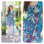 Aloha Summer Flower Dress สีฟ้า thumbnail 1
