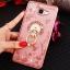 (025-600)เคสมือถือซัมซุง Case Samsung A9 Pro เคสนิ่มขอบแววพื้นหลังลายดอกไม้คริสตัลแหวนโลหะตั้งโทรศัพท์น่ารักๆ thumbnail 15