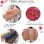 กระเป๋าสตางค์ใบยาว สีไวน์แดง ขนาด 3 พับ ประดับรูปร่ม หนัง PU thumbnail 8