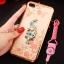 (025-643)เคสมือถือไอโฟน Case iPhone7 Plus/iPhone8 Plus เคสนิ่มลายประดับคริสตัลลายดอกไม้พร้อมแหวนเพชรมือถือและสายคล้องคอถอดแยกได้ thumbnail 8