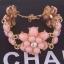 Sweet Pink Flower Bracelet สร้อยข้อมือออกงานรูปดอกไม้แต่งหินสีชมพูหวาน thumbnail 2