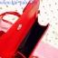 กระเป๋าสะพายข้าง สีแดงสด เย็บเดินลายทั้งใบ ทรงกล่องสีเหลี่ยม thumbnail 4