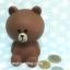 กระปุกออมสิน ลายหมีบราวน์ thumbnail 2