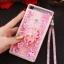 (549-001)เคสมือถือ Case Huawei P8 Lite เคสพลาสติกใส Glitter ทรายดูดหัวใจ thumbnail 13