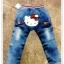 กางเกงยีนส์ขายาว ก้นสกรีนหน้าคิตตี้ กระเป๋าต่อผ้าลายสก๊อต น่ารักมากๆค่ะ size 5, 7, 9, 11, 13 thumbnail 1