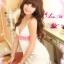 2in1 Sexy Princess Dress ชุดนอนเซ็กซี่ผ้ามันลื่นสีขาวแต่งลูกไม้สีชมพูใต้อก พร้อมจีสตริง thumbnail 4