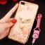 (025-643)เคสมือถือไอโฟน Case iPhone7 Plus/iPhone8 Plus เคสนิ่มลายประดับคริสตัลลายดอกไม้พร้อมแหวนเพชรมือถือและสายคล้องคอถอดแยกได้ thumbnail 3