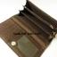กระเป๋าสตางค์ใบยาว MK สีทอง-น้ำตาล ขนาด 2 พับ thumbnail 3