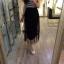 (ชุดเด็กโต) ช่วงบนเป็นเสื้อผ้ายืดเด้งๆ ริ้วขาว-กรม ท่อนล่างเป็นกระโปรงยาว ชีฟองสีดำ มีซัปใน สวยจริงๆ น๊า คุณแม่ตัวเล็กใส่ได้จ้า / size 13-17 thumbnail 1