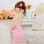 2in1 Sexy Dress ชุดนอนเซ็กซี่สีชมพูทรงย้วยชายลูกไม้หวานๆ+จีสตริง MM8270 thumbnail 5