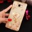 (025-600)เคสมือถือซัมซุง Case Samsung A9 Pro เคสนิ่มขอบแววพื้นหลังลายดอกไม้คริสตัลแหวนโลหะตั้งโทรศัพท์น่ารักๆ thumbnail 5