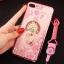 (025-643)เคสมือถือไอโฟน Case iPhone7 Plus/iPhone8 Plus เคสนิ่มลายประดับคริสตัลลายดอกไม้พร้อมแหวนเพชรมือถือและสายคล้องคอถอดแยกได้ thumbnail 18