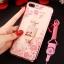 (025-643)เคสมือถือไอโฟน Case iPhone7 Plus/iPhone8 Plus เคสนิ่มลายประดับคริสตัลลายดอกไม้พร้อมแหวนเพชรมือถือและสายคล้องคอถอดแยกได้ thumbnail 15