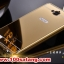 (025-151)เคสมือถือ Case Huawei Honor 3C เคสกรอบโลหะพื้นหลังอะคริลิคเคลือบเงาทองคำ 24K thumbnail 1