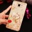 (025-600)เคสมือถือซัมซุง Case Samsung A9 Pro เคสนิ่มขอบแววพื้นหลังลายดอกไม้คริสตัลแหวนโลหะตั้งโทรศัพท์น่ารักๆ thumbnail 3