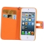 Case เคส Litchi Texture Button Flip Holster for iPhone 5 (Beige) thumbnail 3